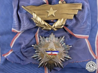An Order of the Yugoslavian Flag; First Class