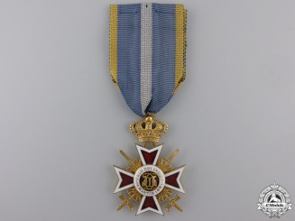 Romania, Kingdom. An Order of the Crown,  Military Division Knight, c.1940
