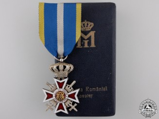 Romania, Kingdom. An Order of the Crown, Military Division with Swords with Case, c.1935
