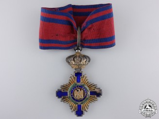 Romania, Kingdom. An Order of the Star, Commanders Cross, Type I