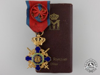 An Order of the Romanian Star; Military Division with Case