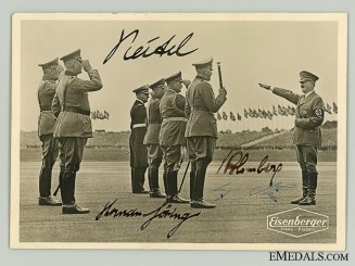 An Outstanding AH, Göring, Blomberg & Keitel Signed Photo  Consign: 18