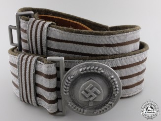 An RAD Officer's Brocade Belt and Buckle