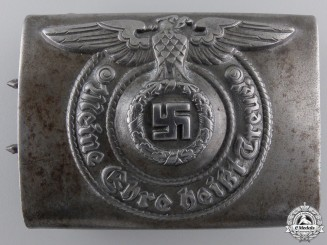 An RZM EM/NCO SS Belt Buckle by Assmann