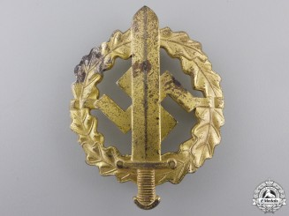 An SA Defense Badge; Gold Grade by W.Redo