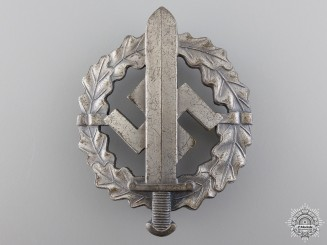 An SA Sports Badge; Silver Grade