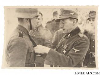 An SS Award Presentation Photograph