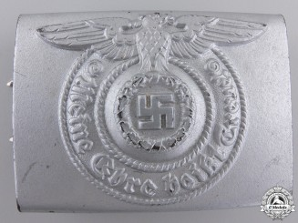 An SS EM/NCO'S Belt Buckle by Assmann 1940; Type 1