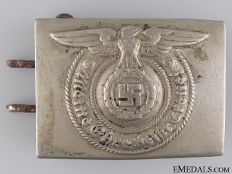 An SS Enlisted Man's/Non-Com Belt Buckle by Overhoff & Cie, Lüdenscheid