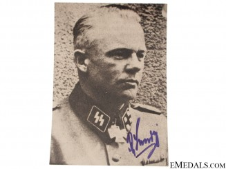 An SS KC Winner Signed Photograph