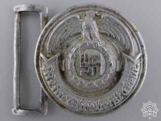 An SS Officer's Belt Buckle by Overhoff & Cie, Ludenscheid