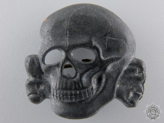 An SS Visor Cap Skull Marked Ges.Gesch.