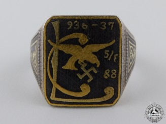 An Unusual Condor Legion Ring in Gold & Iron
