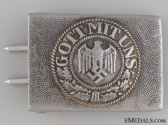 Army (Heer) Belt Buckle by Gustav Brehmer
