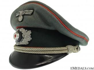Army Artillery officer's Visor Cap by Lotzen