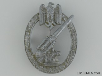 "Army Flak Badge; Very Rare ""Pillow-Crimp"" Version"