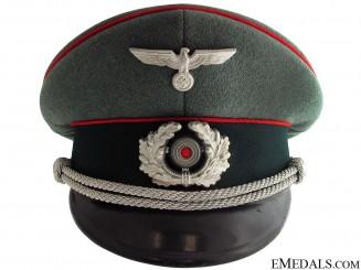 Army Flak Officer's Visor Cap