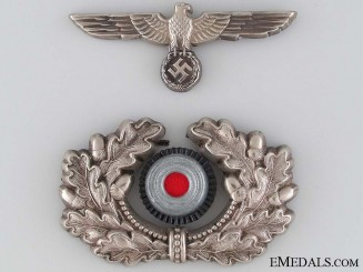Army Officer's Visor Cap Insignia