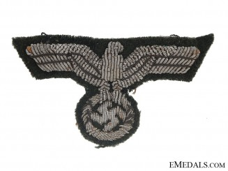 Army Officer's Bullion Eagle for Visor Hat (Schirmutze)