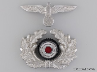 Army Officer Visor Wreath and Cap Eagle
