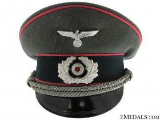 Army Panzer Officer's Visor Cap by Erel
