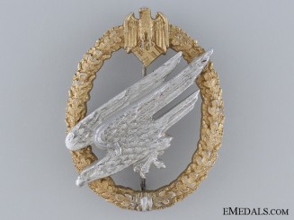 A Scarce Army Paratrooper Badge Type II by Juncker
