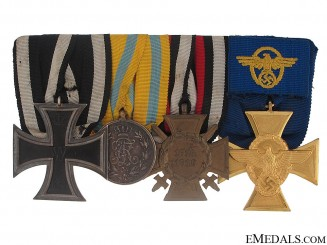 Army WWI & WWII Medal Bar