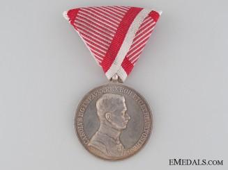 Austrian Bravery Medal; 1st Class, Karl I (1917-1918)
