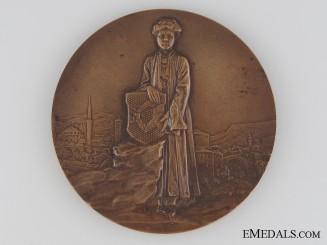 Austrian Franz Joseph Imperial Visit to Bosna-Herzegovina Commemorative Table Medal, 1910
