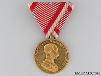 Austrian Golden Bravery Medal in Gold