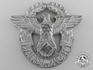 A Second War Landwacht Police Auxiliary Cap Badge