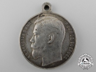 A Russian Imperial Silver Bravery Medal 4th Class