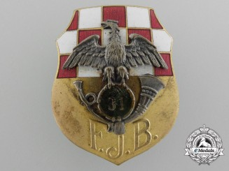 An Austrian First War Badge of the 31st Feldjäger Battalion