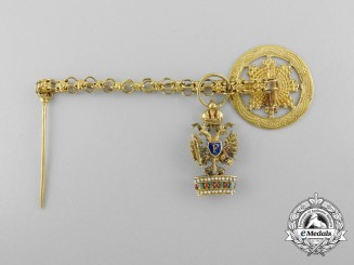 A Miniature Austrian Imperial Order of the Iron Crown in Gold by Mayer