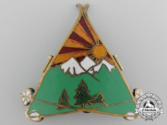 A 1932 Royal Yugoslav Army Mountain Units Badge