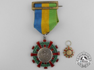 An Ecuadorian Order of Merit; Knight with Miniature