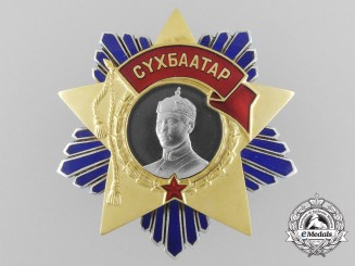 Mongolia, Republic. A Mongolian Order of Sukhbaatar in Gold & Platinum