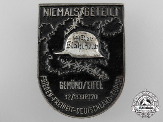 A Large Never Shared Stalhelm Badge