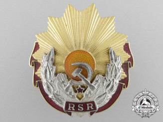 A Socialist Romanian Order of Labour; Second Class