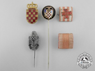 Five Croatian Badges and Miniature Awards