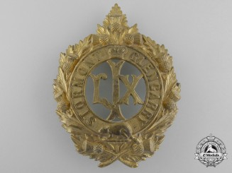 A Victorian 59th Stormont and Glengarry Battalion of Infantry Glengarry Badge