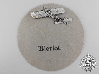 France. An Early 1910 Blériot Monoplane Badge
