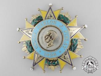 A Rare Cuban Order of Carlos J. Finlay; Breast Star by Vilardebo & Riera Habana