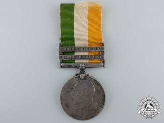 A King's South Africa Medal to the Durham Light Infantry
