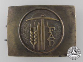 A German Volunteer Labour Service Enlisted Belt Buckle FAD