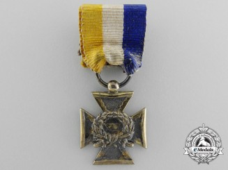 A Miniature Dutch Army Long Service Cross for Fifteen Years' Service
