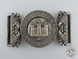 United Kingdom. A 3rd Norfolk Rifle Volunteer Corps Officer's Belt Buckle