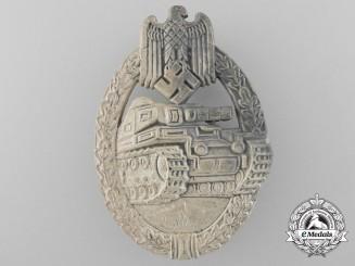A Silver Grade Tank Badge by Rudolf Richter (Plain Grass Version)