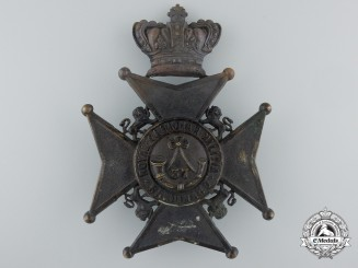 Canada. A Victorian 37th Haldimand Battalion of Rifles Helmet Plate, c.1880