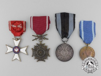 Four Polish Medals and Awards